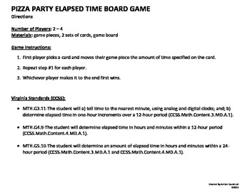 Elapsed Time Board Game