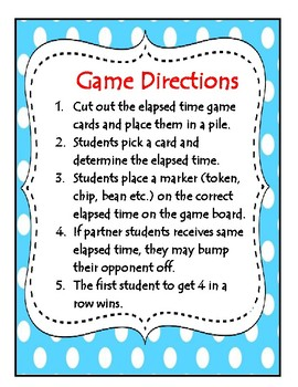 Elapsed Time Bump Review Game