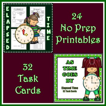 Elapsed Time Printables and Task Cards