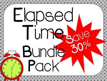 Elapsed Time Bundle Pack:  3.MD.1, 4.MD.2