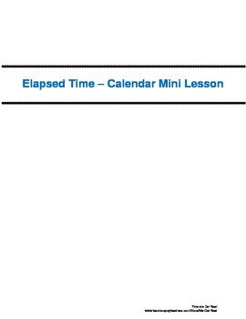 Elapsed Time - Calendar Mini Lesson