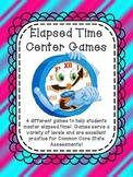 Elapsed Time 5 Center Games Common Core Assessment Test Prep