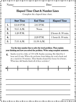 Elapsed Time Practice Freebie!