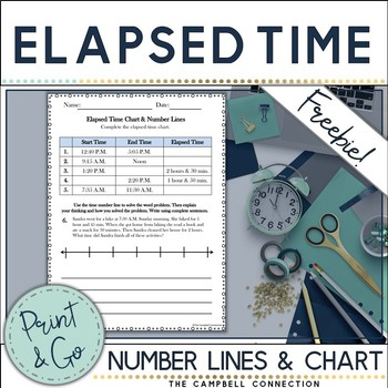 Elapsed Time Practice Freebie!
