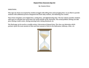 Elapsed Time Classroom Sign Out