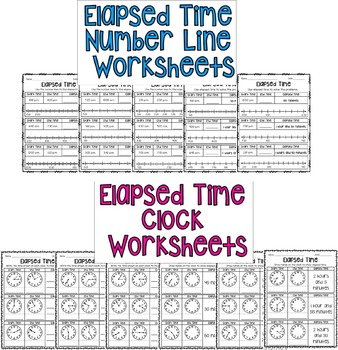 Elapsed Time- Clocks and Number Lines!