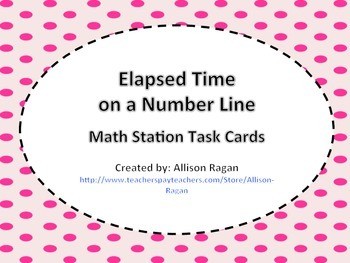 Elapsed Time Common Core Task Cards