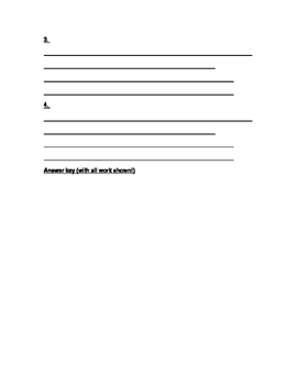Elapsed Time - Create Your Own Word Problems!
