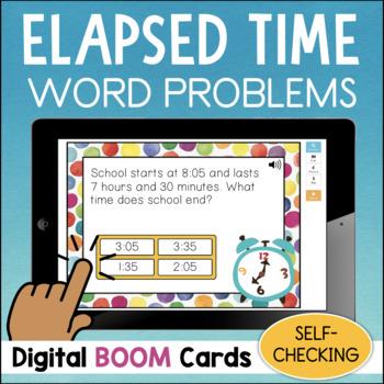 Elapsed Time DIGITAL Task Cards BOOM CARDS