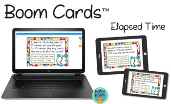 Elapsed Time DIGITAL Task Cards BOOM CARDS