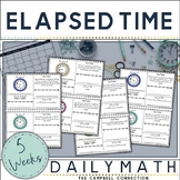 Elapsed Time Number Line Daily Math