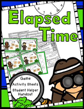 Elapsed Time Game, Worksheets, Student Helper Handout