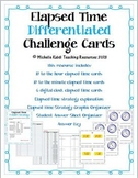 Elapsed Time Differentiated Challenge Cards - Math Centers