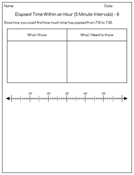 Elapsed Time Differentiated Question Pages