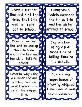 Elapsed Time Differentiated Task Cards