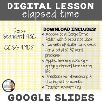 Elapsed Time Google Interactive Lesson