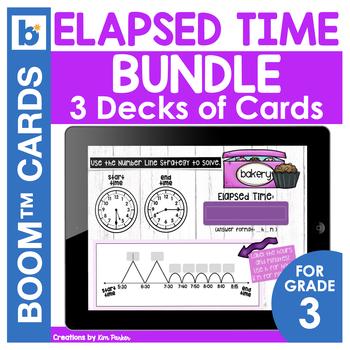Elapsed Time Digital Task Card Bundle 3 DECKS
