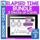Elapsed Time Digital Task Cards 3 DECKS   Distance Learning