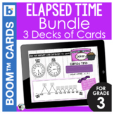 Elapsed Time Digital Task Cards 3 DECKS