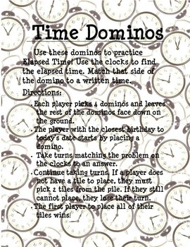 Elapsed Time Dominos