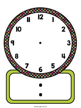Elapsed Time Dry Erase Clocks