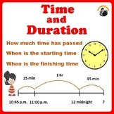 Elapsed Time - Duration and Time on a Number Line Grade3-4