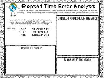 Elapsed Time Error Analysis
