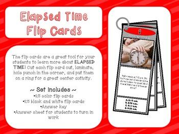Elapsed Time Flip Cards