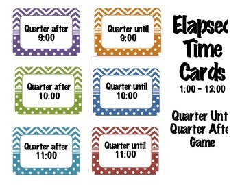 Elapsed Time Game Cards