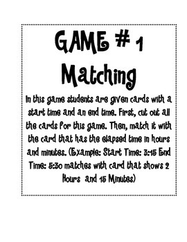 Elapsed Time Games