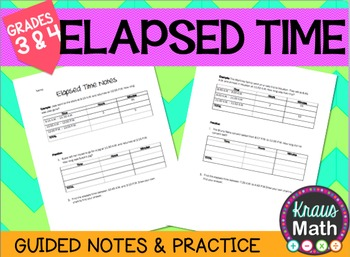 Elapsed Time Guided Notes and Practice