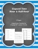Elapsed Time Hour & Half Hour Engage NY  Module 8  Lesson 16 2.8