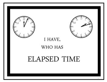 Elapsed Time I Have, Who Has