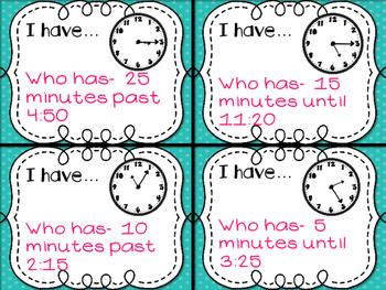 Elapsed Time I Have Who Has
