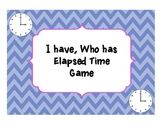 "Elapsed Time ""I have, Who has"" game"