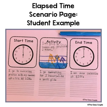 Elapsed Time Interactive Notebook & Scenario Page FREEBIE!