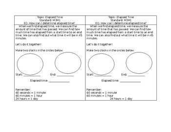 Elapsed Time Interactive Notes