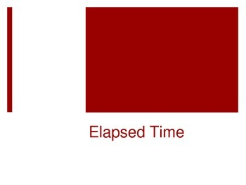 Elapsed Time Interactive PowerPoint 3.MD.1