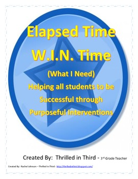 Elapsed Time Intervention Lesson Plans