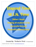 Elapsed Time Intervention Lesson Plans