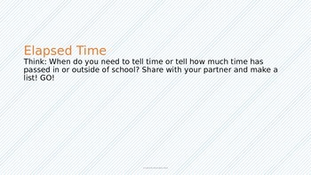 Elapsed Time Introduction with Practice