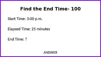 Elapsed Time Jeopardy