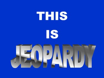 Elapsed Time Jeopardy PowerPoint Game