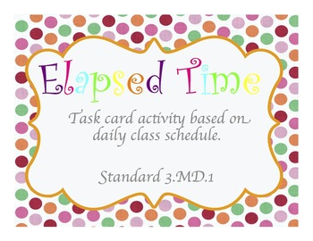 Elapsed Time Lesson Bundle with Center Materials