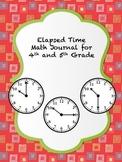 Elapsed Time Math Journal