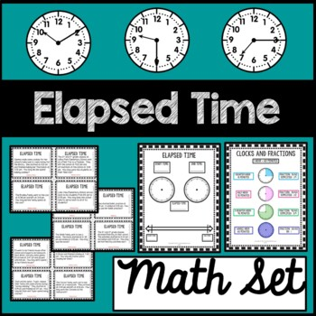 Elapsed Time Math Mat and Task Cards