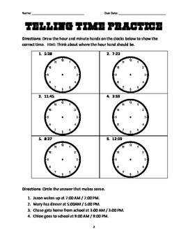 Elapsed Time Math Menu