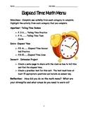 Elapsed Time Math Menu