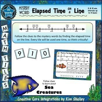 Elapsed Time Math Tile BUNDLE