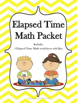 Elapsed Time Math Warm Ups With Key